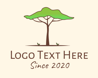 Forestry - African Safari Tree logo design