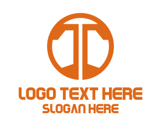 Algorithm - Orange T Symbol logo design