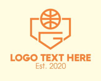 Hoops - Orange Basketball Tournament Letter G logo design