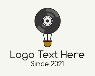Music Licensing - Hot Air Balloon Vinyl logo design