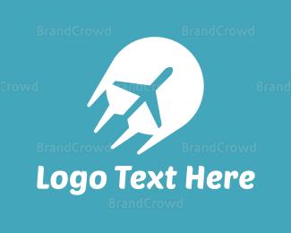 Flyer - Fast Plane logo design