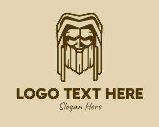 Beard - Rustic Bearded Man logo design