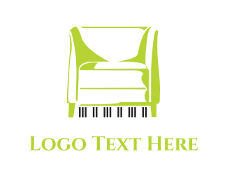 Lounge - Piano Couch  logo design