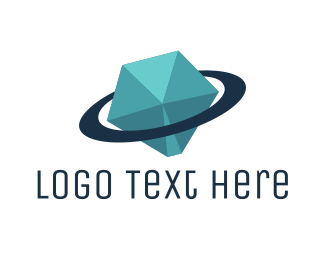Saturn - Diamond Planet logo design