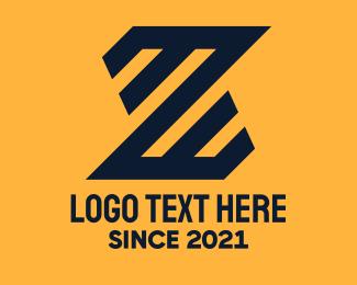 Letter Z - Bold Black Letter Z logo design
