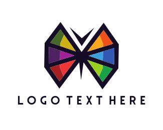 Butterfly - Geometric Butterfly logo design