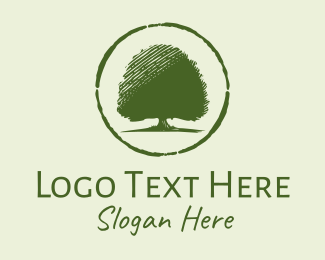 Park - Oak Tree Park  logo design