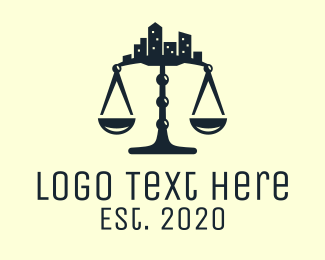 Law Scales - City Legal Law Firm logo design