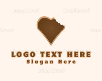 Cookie - Heart Cookie logo design