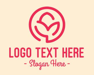 Perfume - Minimalist Flower Bud logo design