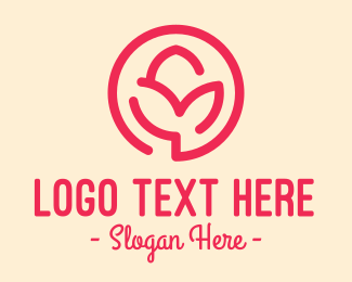 Flower Store - Minimalist Flower Bud logo design