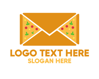 Mail - Pizza Mail logo design
