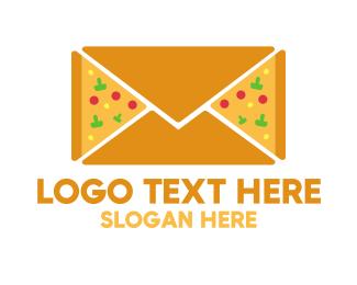 Slice - Pizza Mail logo design