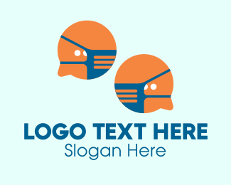 Work At Home - Social Distancing Messenger logo design