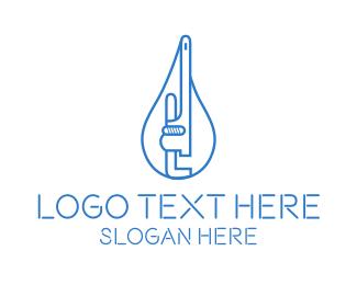 Plumbing - Plumbing Wrench Water logo design