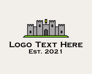 Fortress - Ancient Castle Fortress logo design