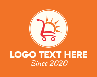 Shopping Cart - Sunny Shopping Cart logo design