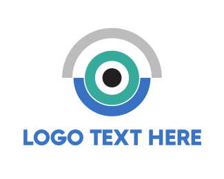 Lens - Blue Camera logo design