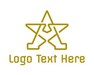 Symbol - Star A Outline logo design