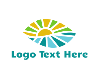 Ecology - Leaf Landscape logo design