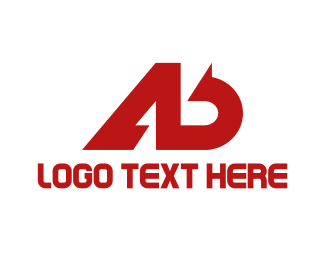 Business Consulting - Red A & B logo design