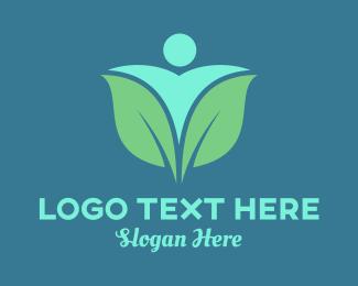 Human - Human & Flower logo design