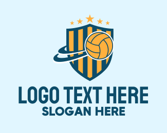 Volleyball Equipment - Volleyball Team Emblem logo design