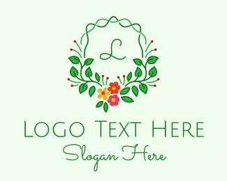 Arrangement - Floral Arrangement Lettermark logo design