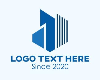 Corporate - Blue Corporate Building logo design