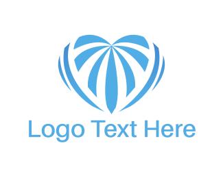 Baby Blue - Blue Heart logo design