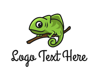 Camouflage - Green Chameleon  logo design