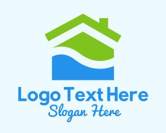 Summer Vacation - Summer Beach House  logo design