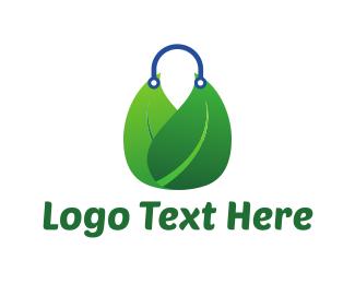 Handbag - Biodegradable Bag logo design