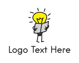 Newspaper - Reader Light  logo design