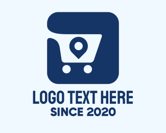 Tracking - Shopping Cart Location Tag App logo design