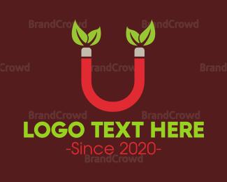 Eco-friendly - Eco Magnet logo design