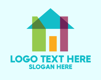 Bungalow - Abstract Shape House logo design