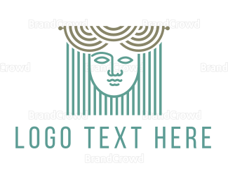Woman - Curtains & Woman logo design