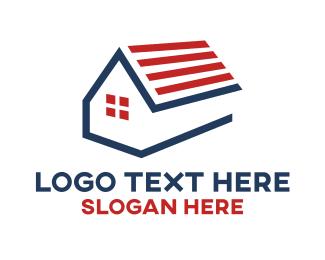 Homes - American Home logo design