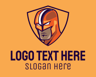 Wrestler - Superhero Mask Emblem  logo design