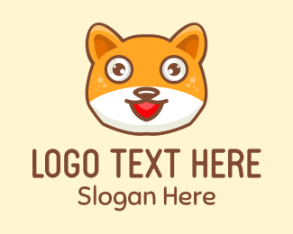 Pussy - Shiba Dog logo design