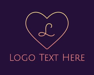 Wife - Minimalist Gradient Heart logo design