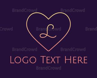 Bride - Minimalist Gradient Heart logo design