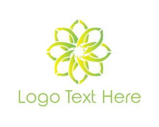 Petal - Green Flower logo design