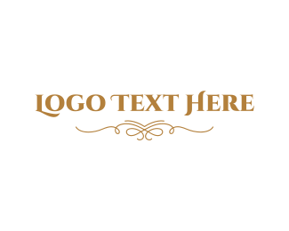 """Elegant Golden Wordmark"" by BrandCrowd"