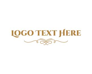 Designs - Elegant Golden Wordmark logo design