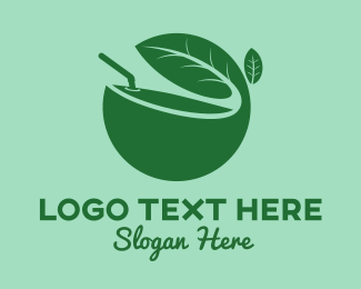 Juice Shop - Green Herb Juice logo design