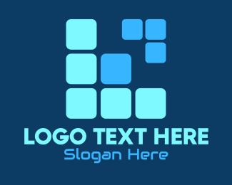 Block - Tetris Letter L logo design