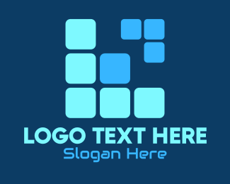 Tetris - Tetris Letter L logo design