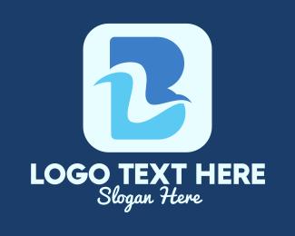Ripple - Letter B Wave logo design